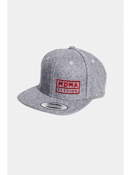 snapback fleece grey/red
