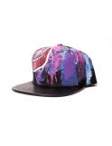 MDMA X GRU Leather Snapback