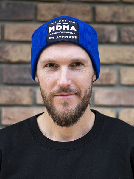 Beanie My Design royal blue