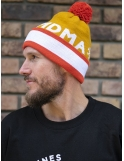 Beanie Snow mustard/orange