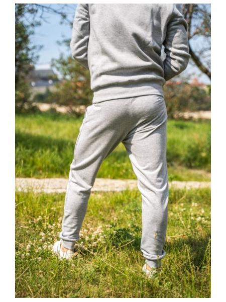 Pánské šedé tepláky s potiskem MDMA Fashion